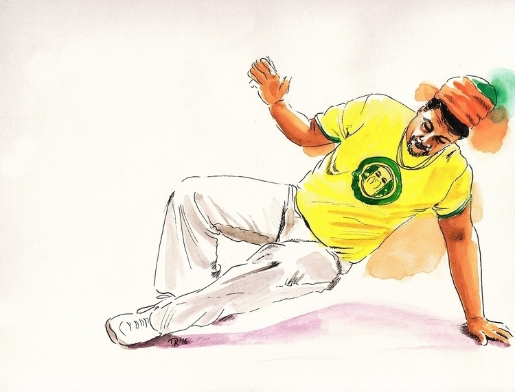 capoeira angola move - sketch, drawing - dannyknebel | ello