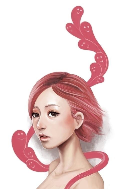 Burgundy Feelings - illustration - zsami | ello