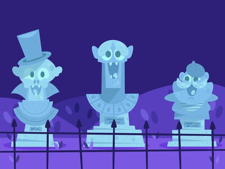 illustration, friends, haunted - carloberanek | ello