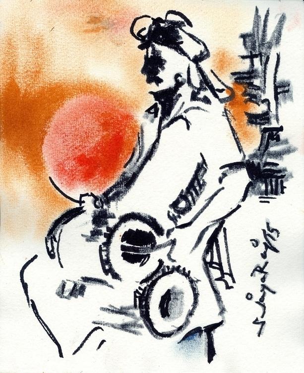 drawing, art, ruralfolk, india - sjayaraj999 | ello