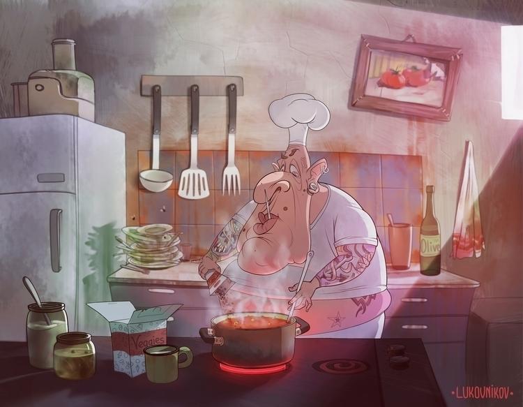 Kitchener - illustration, digitalart - andreylukovnikov | ello