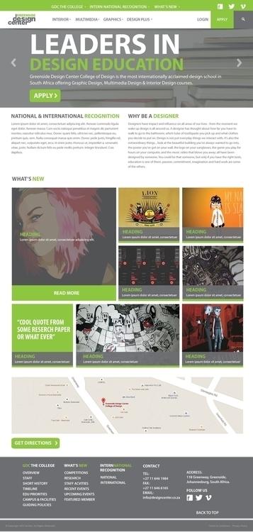 Homepage desktop design Greensi - powerdesign | ello