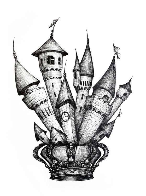 Crazy King Luis II - illustration - luisamazarotto | ello