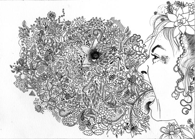 vomit? pretty - illustration, drawing - sarahreasor | ello