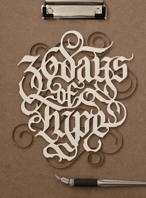 36 Days Type. Full project - typography - johned-8840   ello