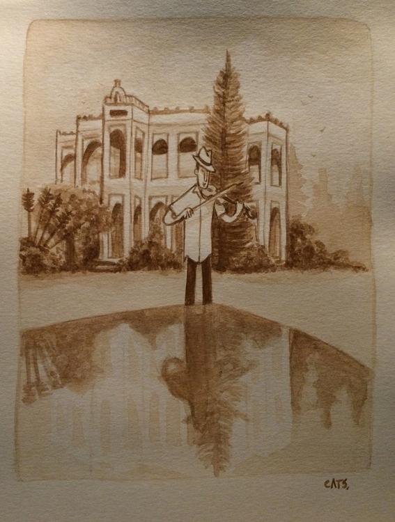 watercolour, painting, illustration - cat-8775   ello