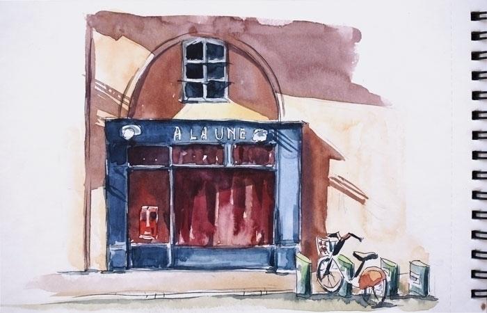 Toulouse, France - sketch, watercolor - kamieshkova | ello