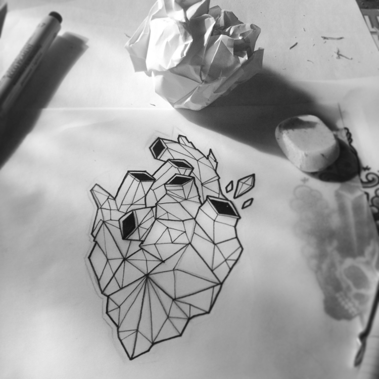 paper, Heart, illustration, geometric - foskoscarfagna | ello