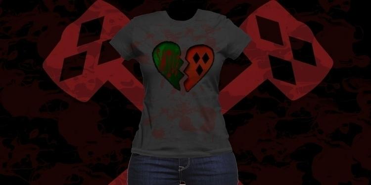 Joker Harley Quinn broken heart - mandidennie | ello
