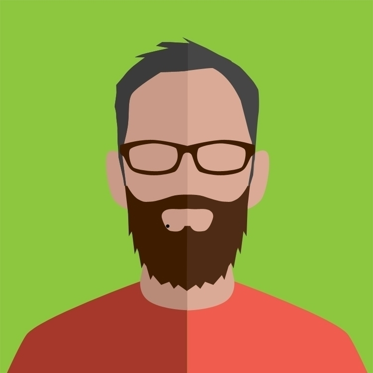 flat portrait social media - illustration - damskivitch | ello