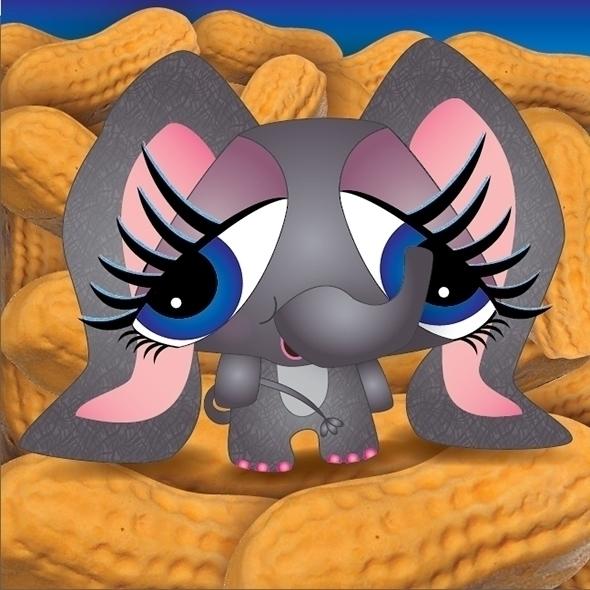 Elephant lost Circus Peanuts - elephant - kvoerg | ello