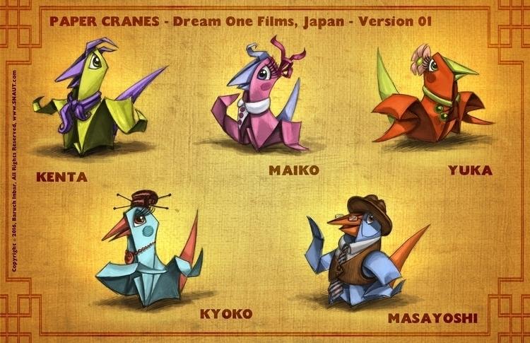 PAPER CRANES: hired Japanese pr - baruchinbar | ello