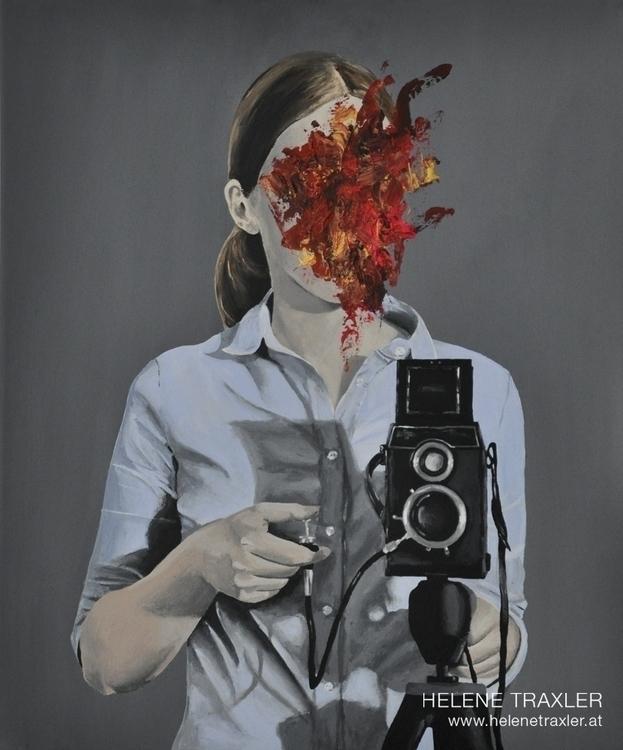 portrait thoughts /2 -- paintin - helenetraxler | ello