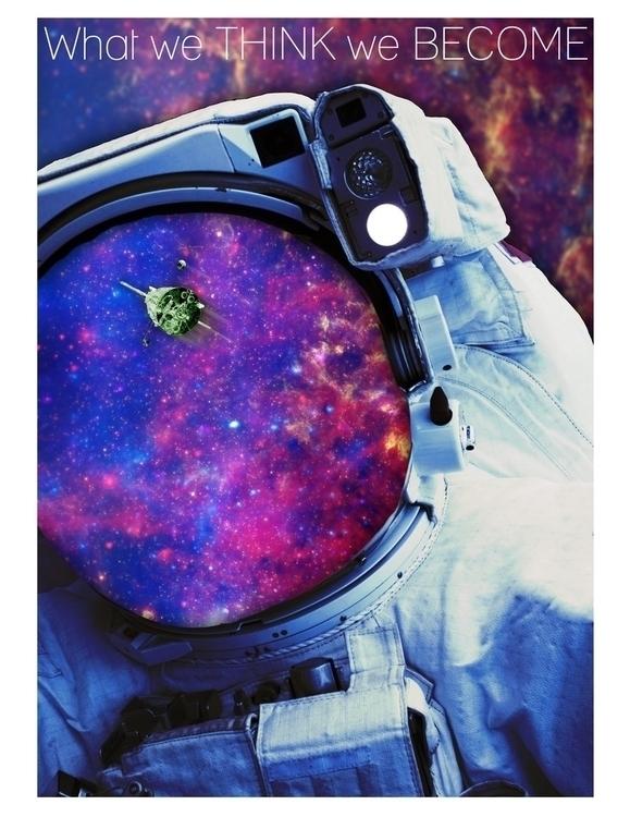 Spaceman, space, galaxy, stars - daeforshtay | ello