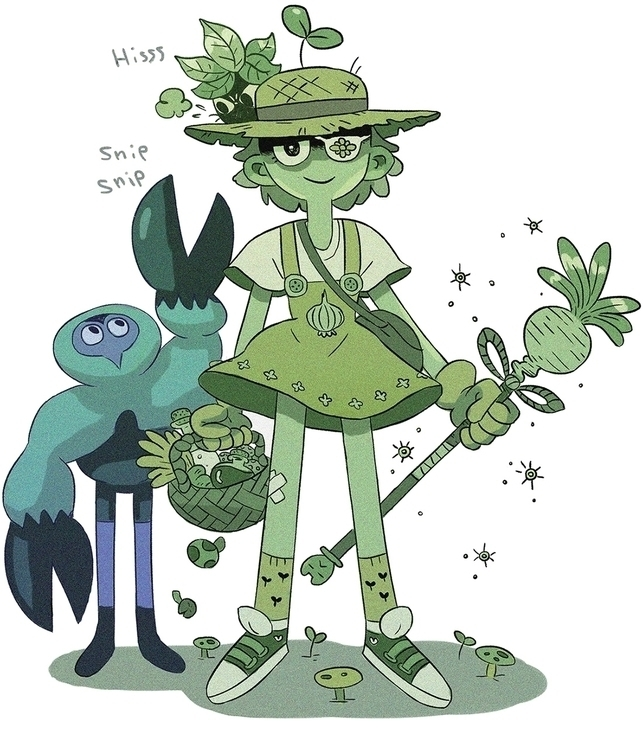 Magical plant girl - magicalgirl - insidematthieu   ello
