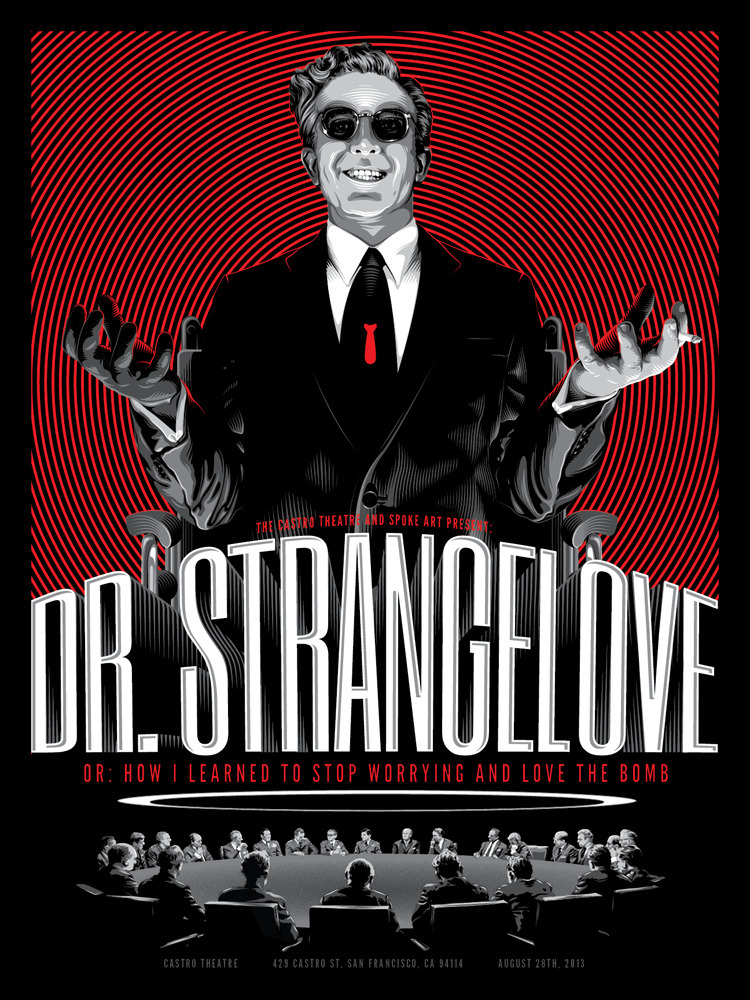 Dr Strangelove - movieposter, silkscreen - tracieching | ello