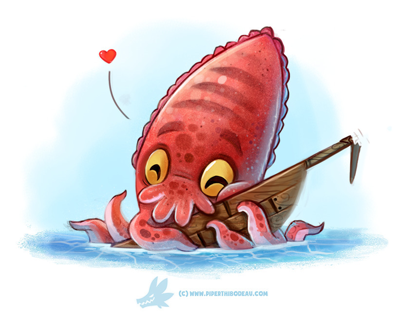 Daily Paint Cuddlefish - 1274. - piperthibodeau | ello