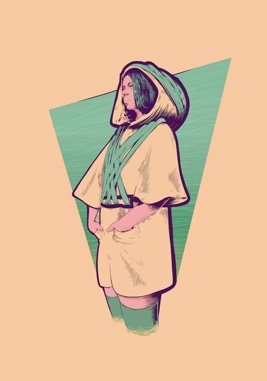 Fashion design ilustration - illustration - m-1387 | ello