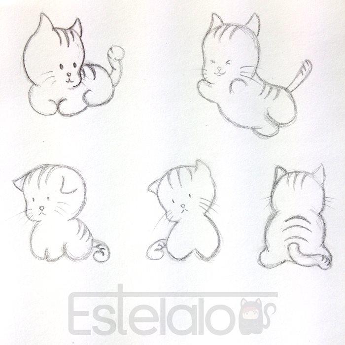 Cats - cats, drawing, blackandwhite - stelalo   ello