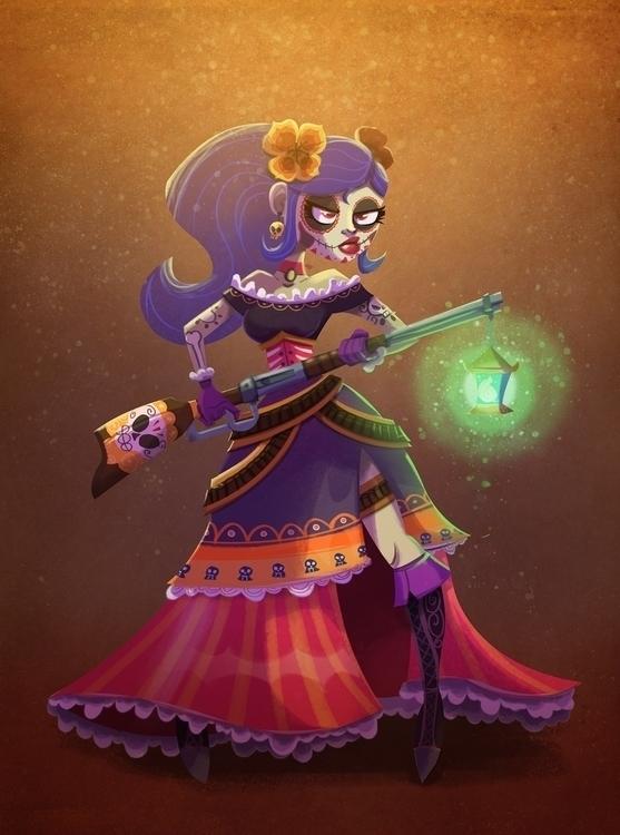 Filomena, vengeful Catrina - illustration - michelverdu | ello