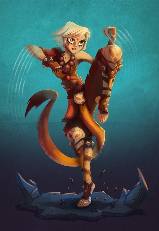 Owl Clan Monk - monk, girl, marcialarts - michelverdu | ello