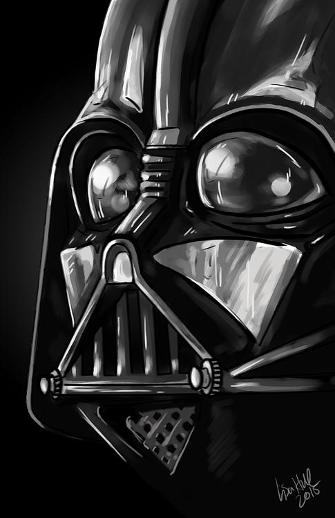 Close Darth helmet. Illustratio - paulhall | ello