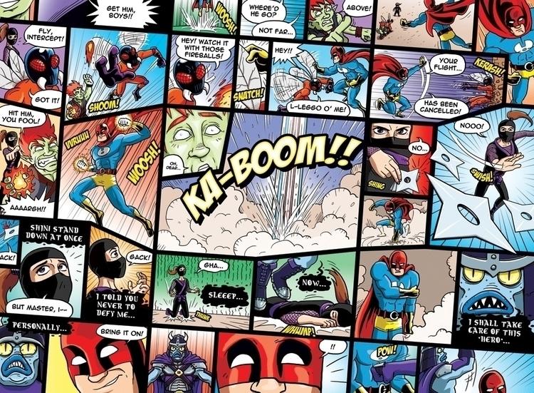 comic book style wallpaper mura - jimalgar | ello