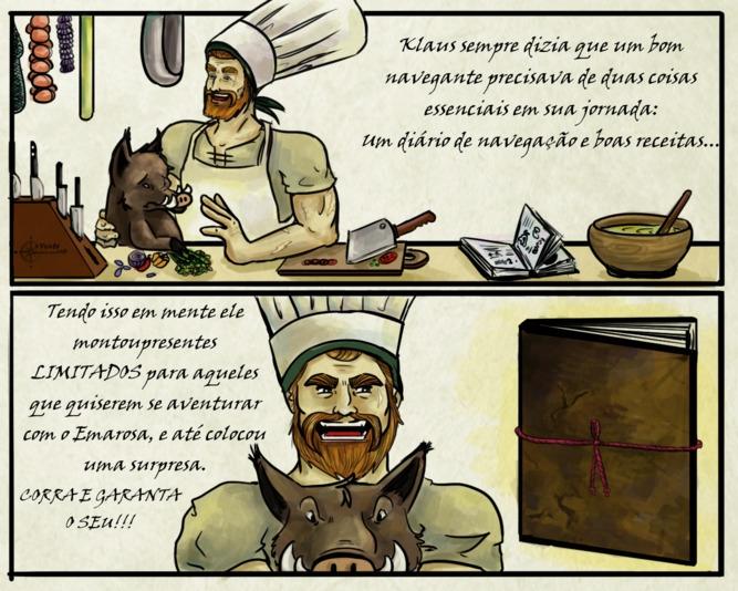 cooking, javali, klaus, sketchbook - amandaloyolla | ello