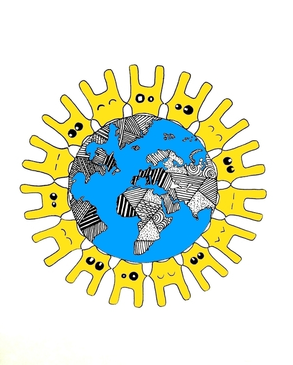..Rabbits World Unite - illustration - agama | ello