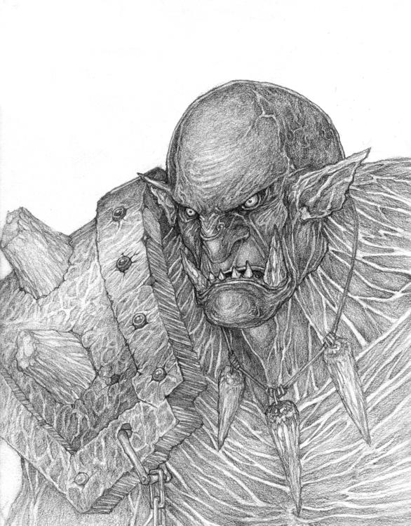 Orc - Concept art pencils paper - lr_visualart | ello