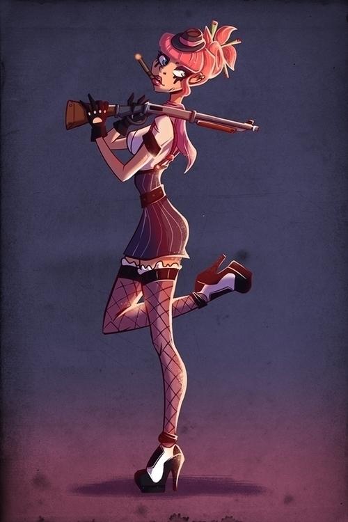 Mob GIRL - illustration, painting - michelverdu | ello
