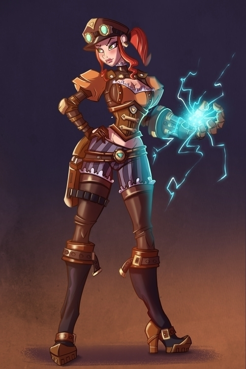Steampunk captain - illustration - michelverdu | ello