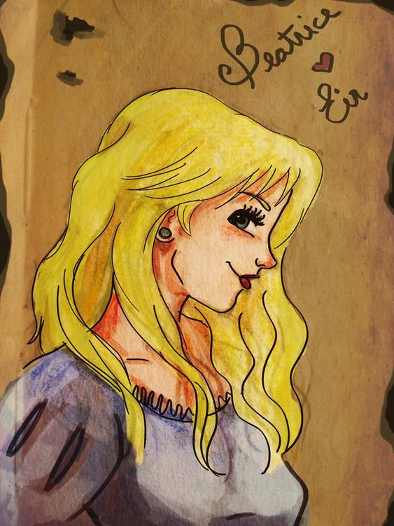 Beatrice, characterdesign, livroovento - amandaloyolla | ello
