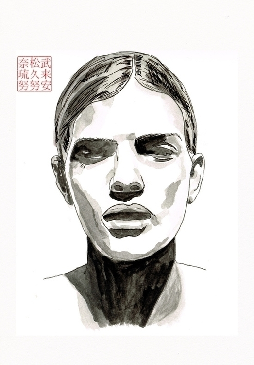 Head (Ink Paper - 1, head, portrait - bryanjames-5485 | ello