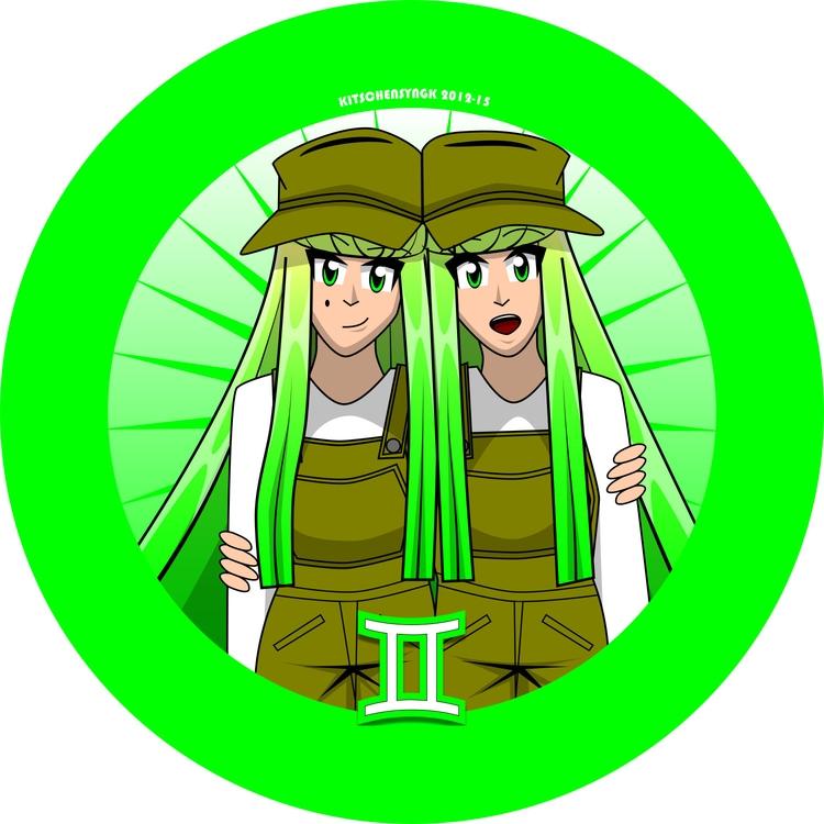 Gemma Inez Gemini Twins - characterdesign - kitschensyngk | ello