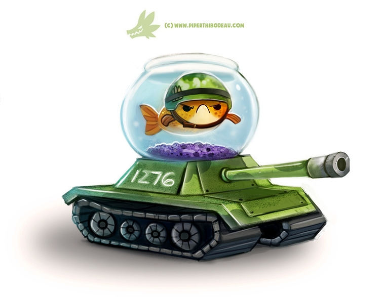 Daily Paint Fish Tank - 1276. - piperthibodeau | ello