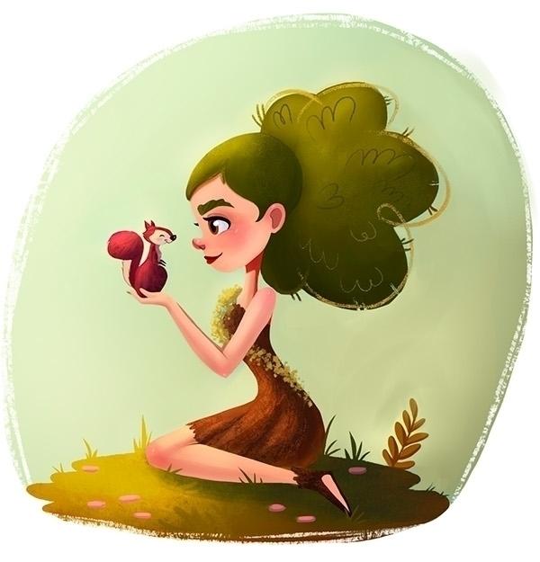 Forest Girl - characterdesign, character - ashleyodell | ello