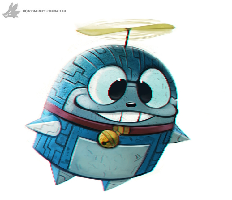 Daily Painting Doraemon - 859. - piperthibodeau | ello