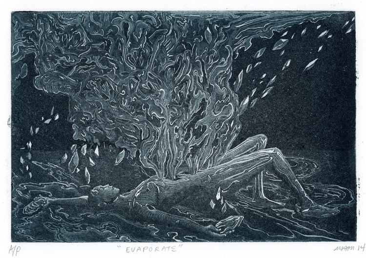 Evaporate Etching aquatint - etching - maquinom | ello