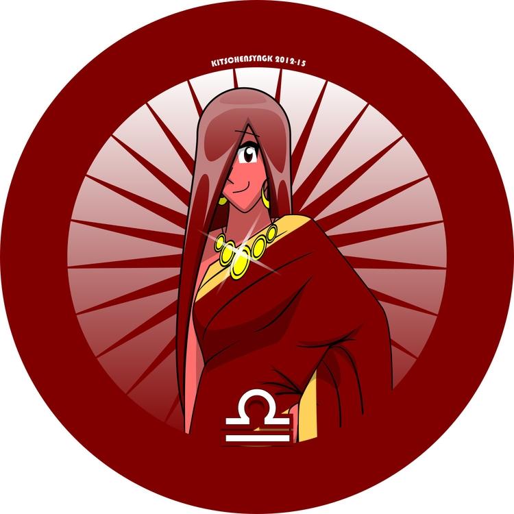 Dharma Libra Scales - characterdesign - kitschensyngk | ello