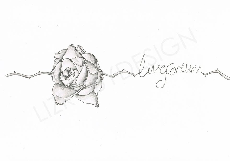 Live Rose Tattoo Design - tattoodesign - lizroby | ello