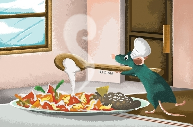 Remy cooking red chilaquiles Ra - lucylodraws | ello