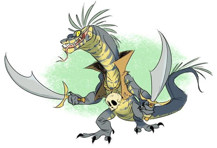 lizard, lizardman, reptile, monster - awamboldt | ello