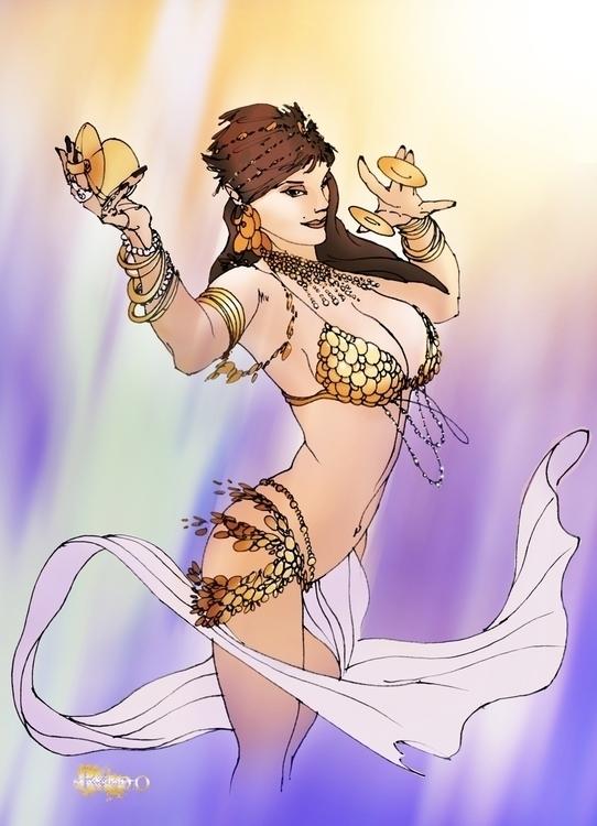 Belly Dancer - sexywoman, illustration - rpoling | ello