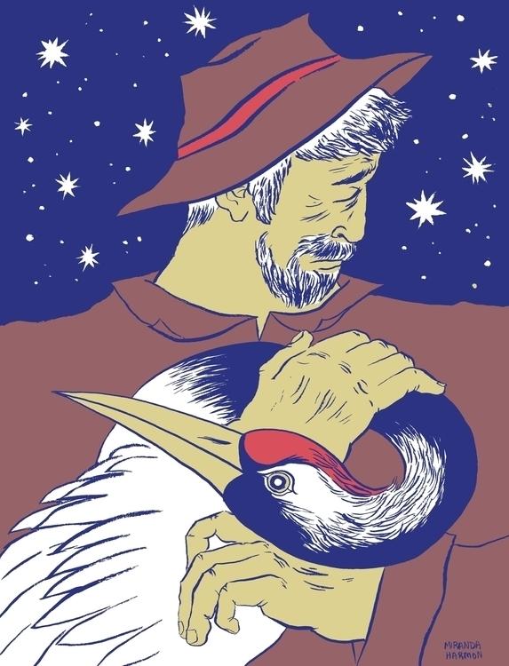 Crane Wife - illustration, ink, digital - mirandaharmony | ello