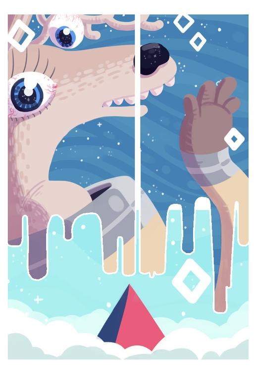 spacedeer, comic, psychedelic - indiana_jonas | ello