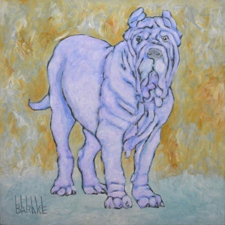 MASTINO LILAC - painting, dog, mastinonapoletano - barakesculptor | ello