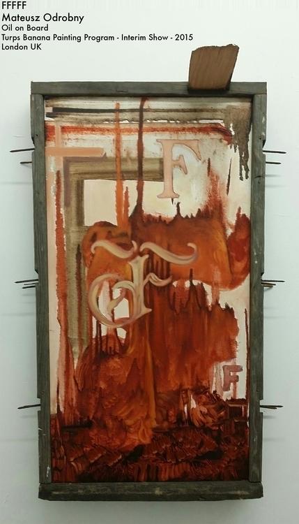 FFFFF Oil Board Custom Frame - painting - mjoarts | ello