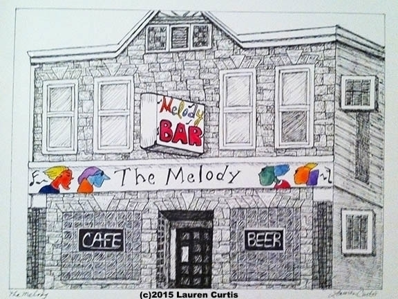 Melody Bar, pen ink, historic c - laurencurtis | ello