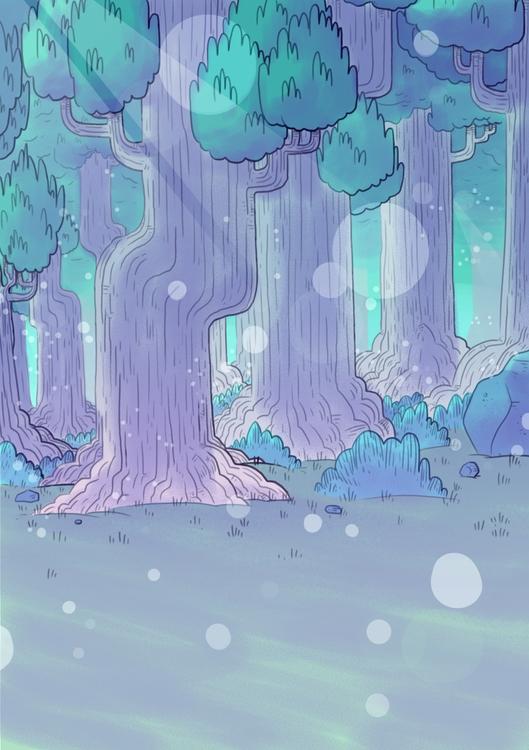 woods, forrest, illustration - indiana_jonas | ello